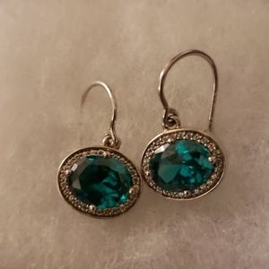 Beautiful emerald and diamond earrings